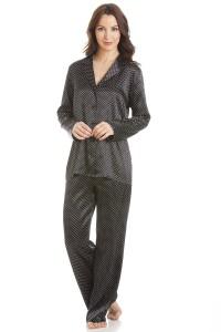 Black Satin Pyjamas