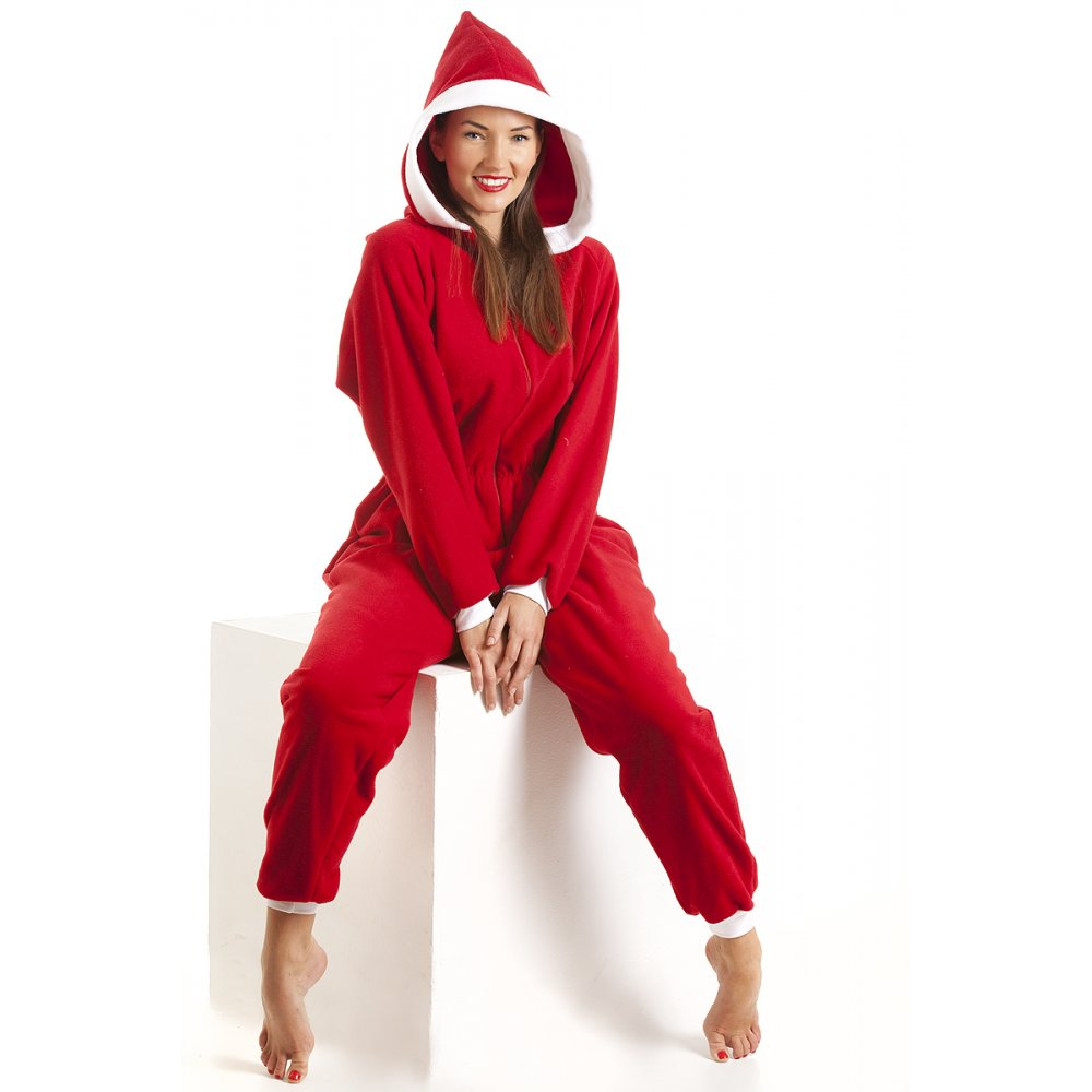 Simple NEW LADIES WOMEN ONESIE JUMPSUIT ALL IN ONE PIECE HOODED PAJAMAS PLAY