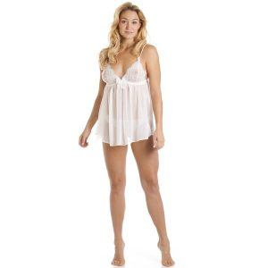 Woman wearing Camille brand Babydoll