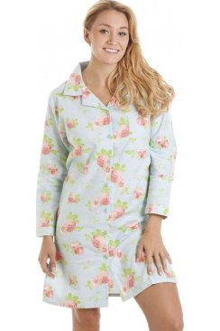 100% Cotton Wincy Floral Print Nightshirt