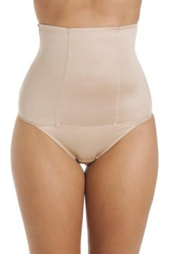 Beige High Waist Slimming Shapewear Briefs