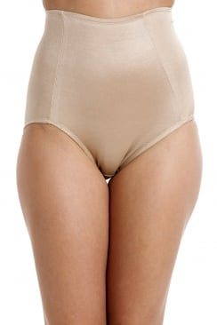 Beige Shapewear Full Support Control Briefs
