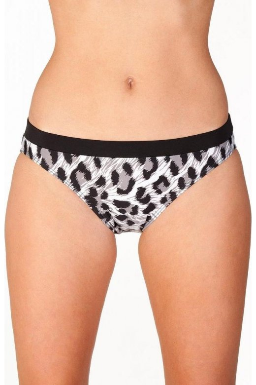 Black Animal Print Bikini Bottoms