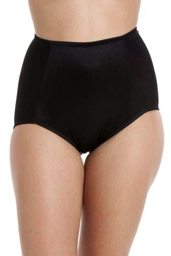 Black Full Support Shapewear Control Briefs