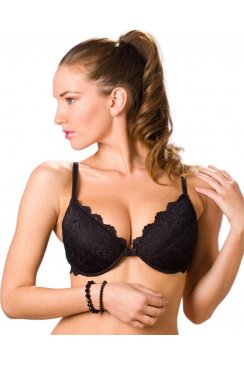 Black Push Up Padded Underwired Bra