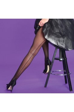 Black Scarlet Seamer Tights