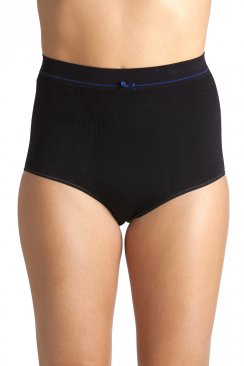Black Seam Free High Waist Shapewear Control Briefs