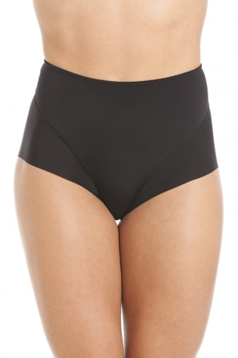 Black Seamless Smooth Control Briefs
