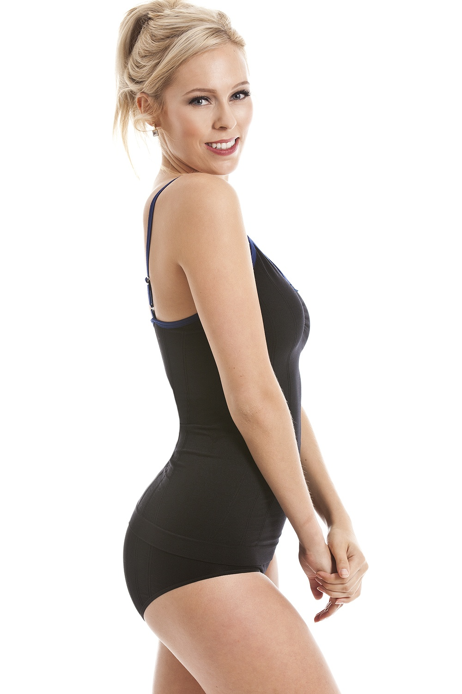Black Shapewear Support Control Seam Free Vest Top