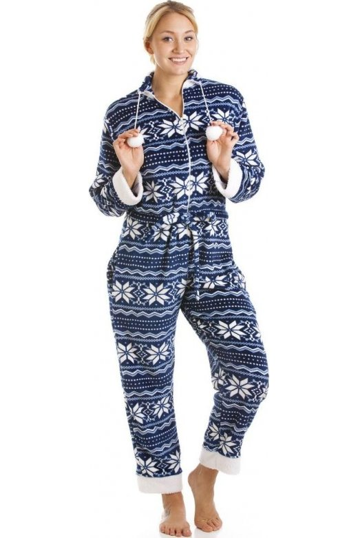 Camille Blue And White Nordic Soft Silk Touch All In One Onesie