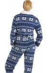 Blue And White Nordic Soft Silk Touch All In One Onesie