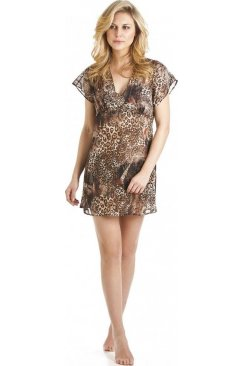 Brown Jungle Print Kaftan