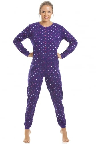 100% Cotton Multi-Coloured Star Print Purple Onesie