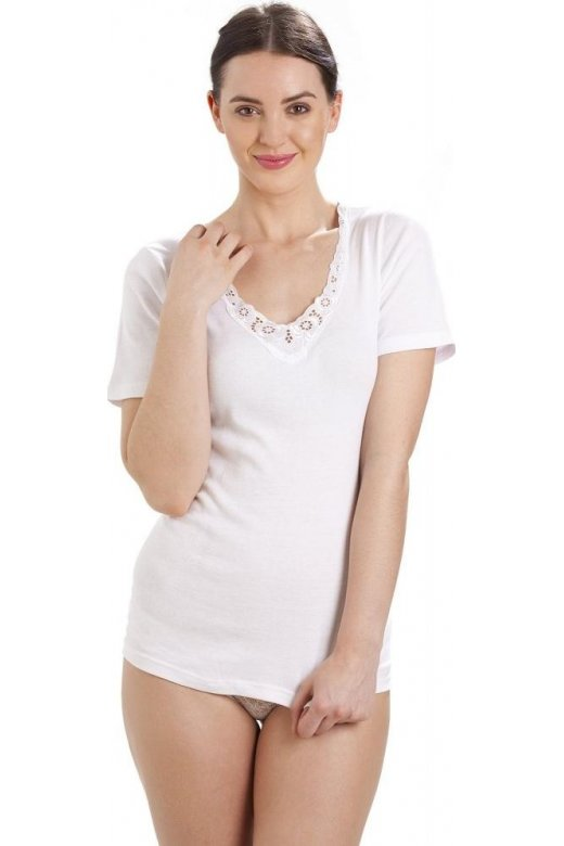 Camille 100% Cotton Ultra Comfort Short Sleeve Vest