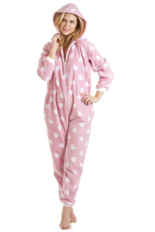 Camille Adult And Child Various Colour Heart All In One Onesie Pyjama