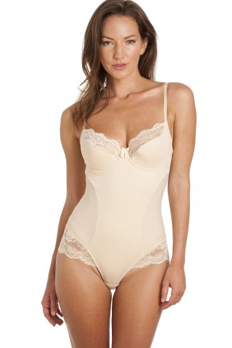 Beige Lace Sexy Shapewear Support Body