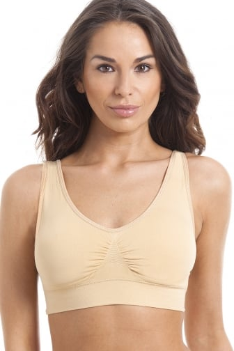 Beige Seamfree Shapewear Control Support Bra