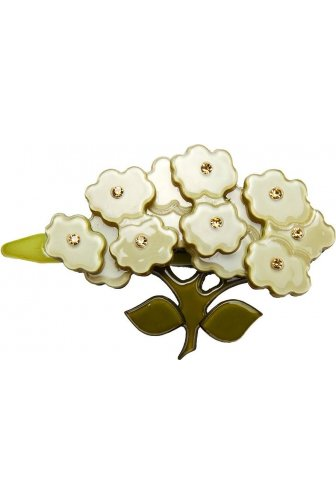 Big Baby Cream Flower Diamante Hair Clip