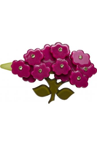 Big Baby Dark Pink Flower Diamante Hair Clip