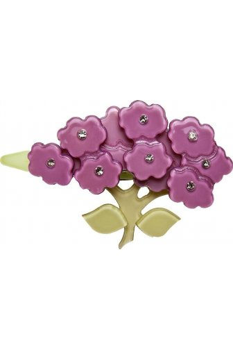 Big Baby Pink Flower Diamante Hair Clip