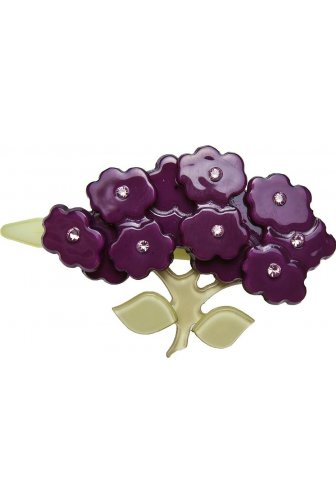 Big Baby Purple Flower Diamante Hair Clip