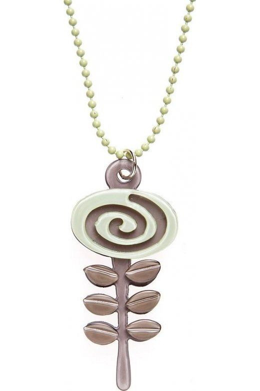 Camille Big Baby Womens Ladies Fashion Jewellery Brown And Mint Green Acrylic Flower Necklace