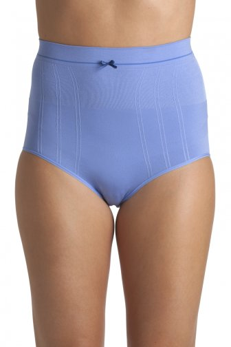 Blue Seam Free High Waist Shapewear Control Briefs