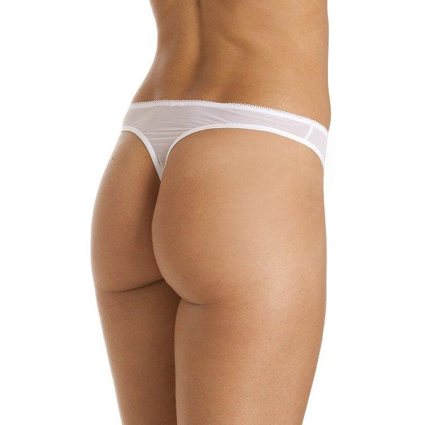88bc35e43f64 Camille White Mesh Lace Womens Thong