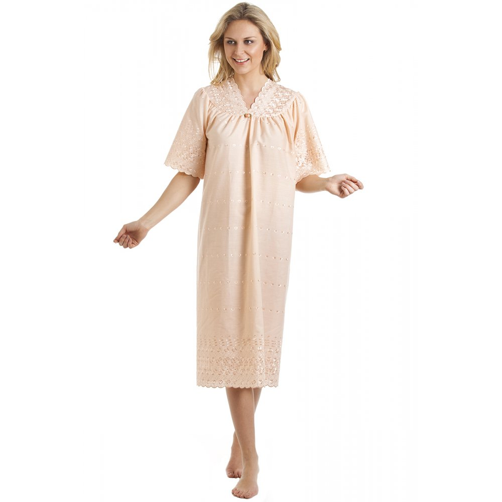 Camille womens ladies luxury peach short sleeved