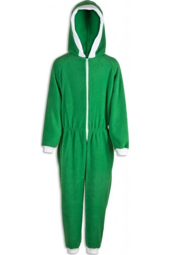 Childrens Unisex Green All In One Pyjama Onesie