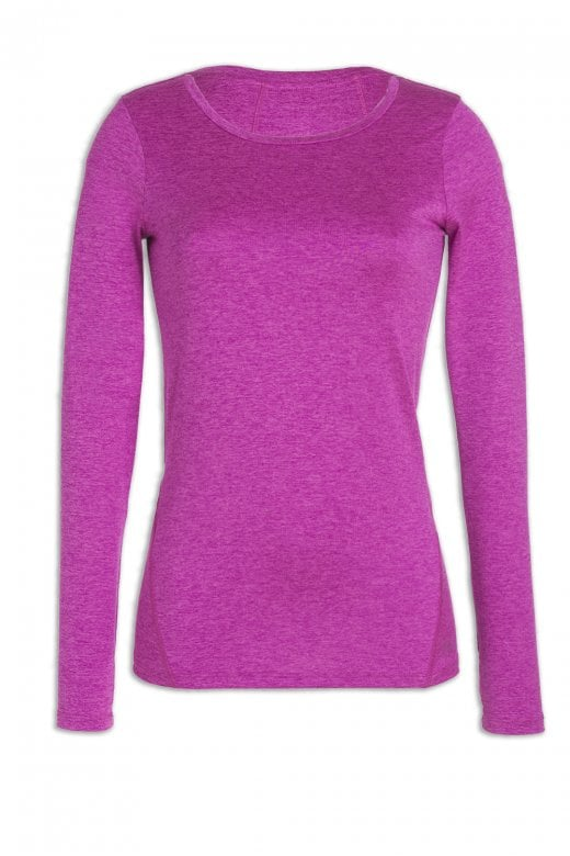 Camille Ex F&F Womens Pink Long Sleeved Sports Top