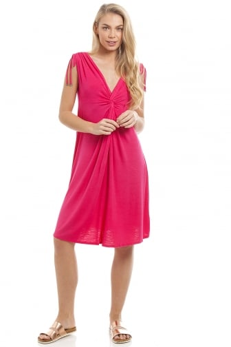 EX High-street Ladies Pink Knee Length Beach Dress