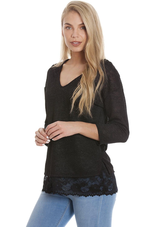 60231dd9843b Camille Ex Marks & Spencer Womens Black Sparkly ...