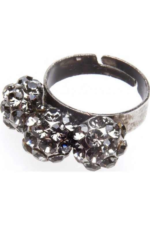 Camille Grey Diamante Three Ball Cluster Ring