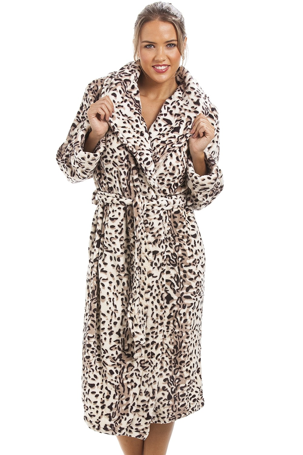 Supersoft Brown And Cream Animal Print Bath Robe 829c0ac3c