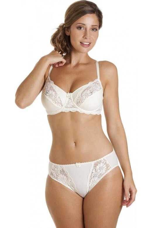 225f52201000 Ladies Camille Ivory Lingerie Womens Full Cup Underwired Lace Bra ...