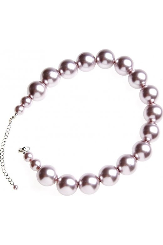 Camille Large Silver Pearl Adjustable Necklace