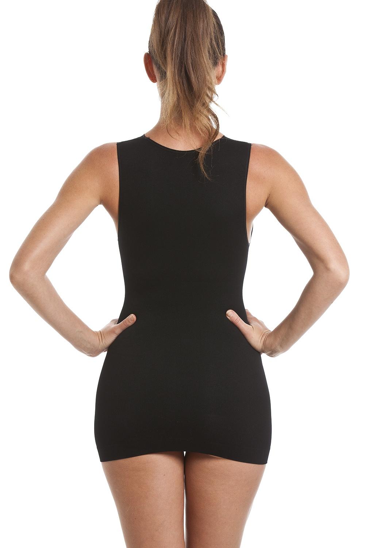 7e0406824ea11 Camille Long Black Lace Shapewear Support Vest Top