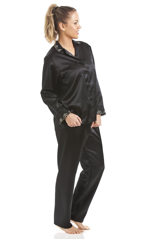 7176ee40460b0 Luxury Black Satin Pyjama Set