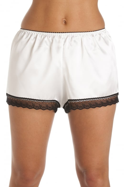 Camille Luxury Cream Satin French Knicker Shorts