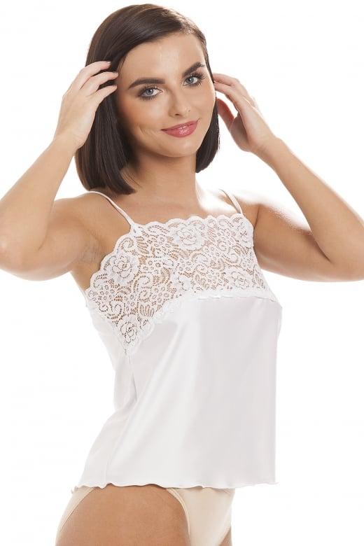 d7918584f8036f Ladies Camille White Lingerie Luxury Camisole Lace Trim Top ...