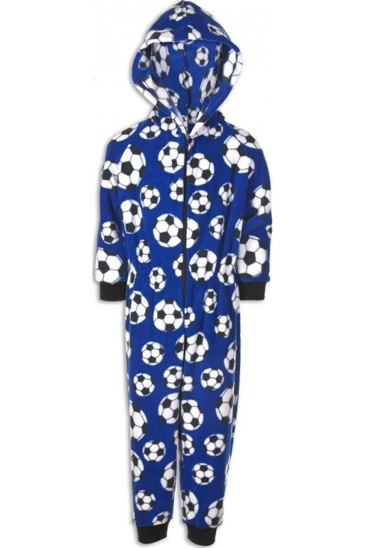 limited quantity original sale Camille Camille Mens Blue Football All In One Onesie Pyjama
