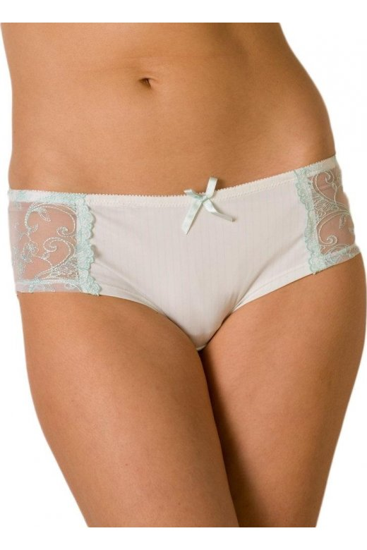 Camille Mint Sheer Mesh Boxer Shorts