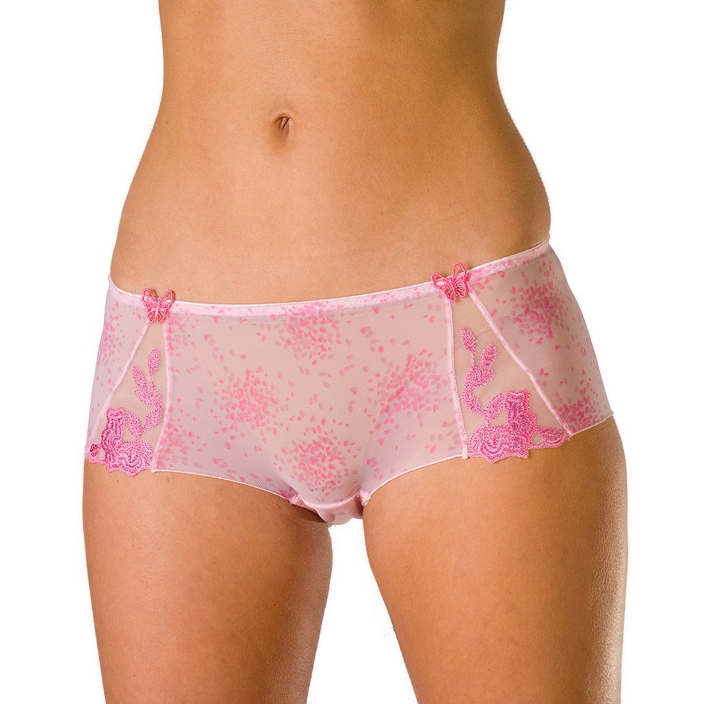 ladies camille pink sheer mesh womens lingerie knickers