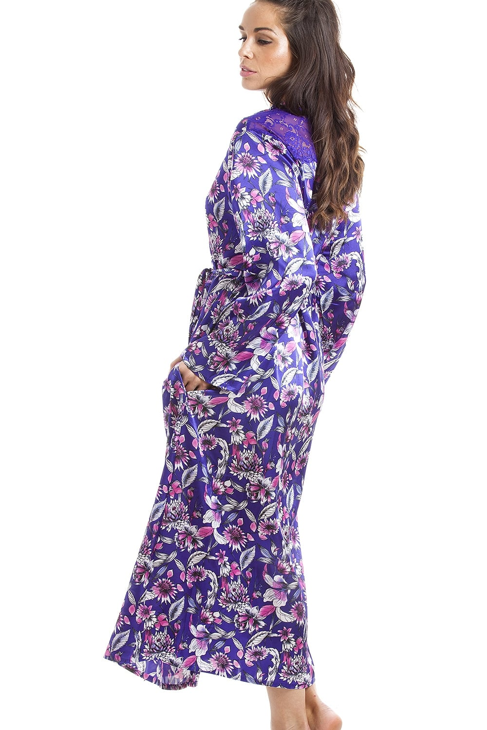 Beautiful Dark Purple Dressing Gown Image - Images for wedding gown ...