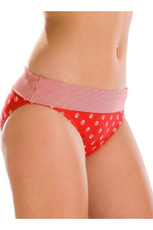 Camille Red Polka Dot Womens Beach Swimwear Bikini Briefs