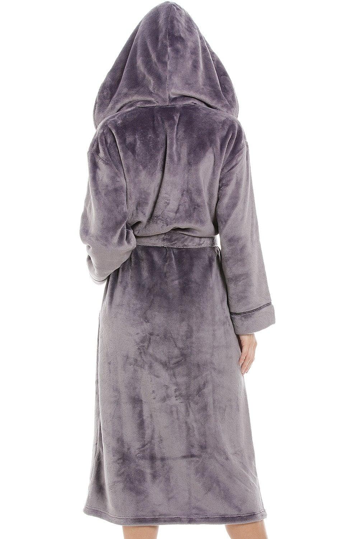 e90975e65c4 Camille Super Soft Fleece Dark Grey Dressing gown