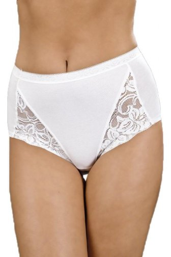 Camille Three Pack Floral Lace Maxi Briefs In White