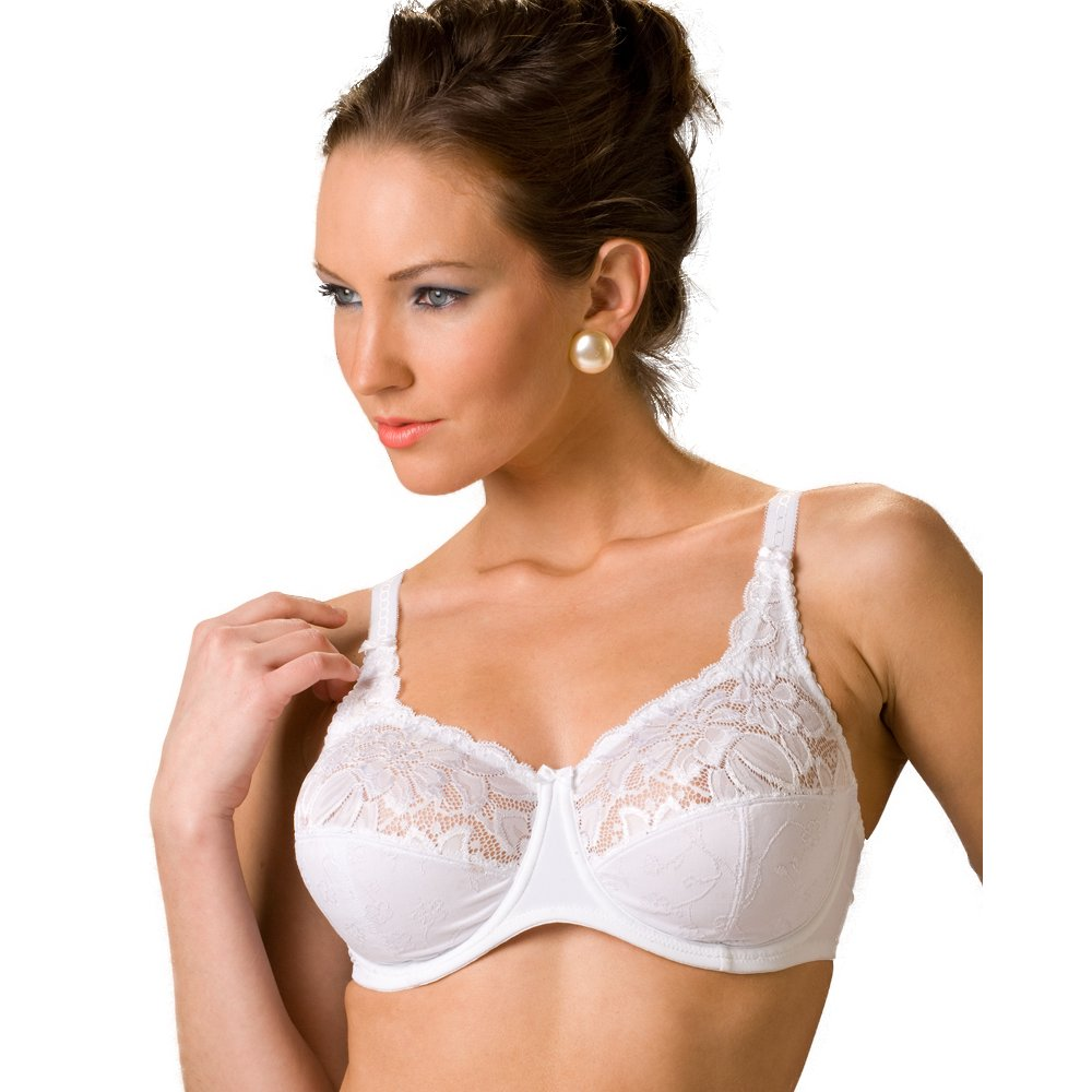 big bra White Jacquard Lingerie Womens Underwired Big Cup Bra