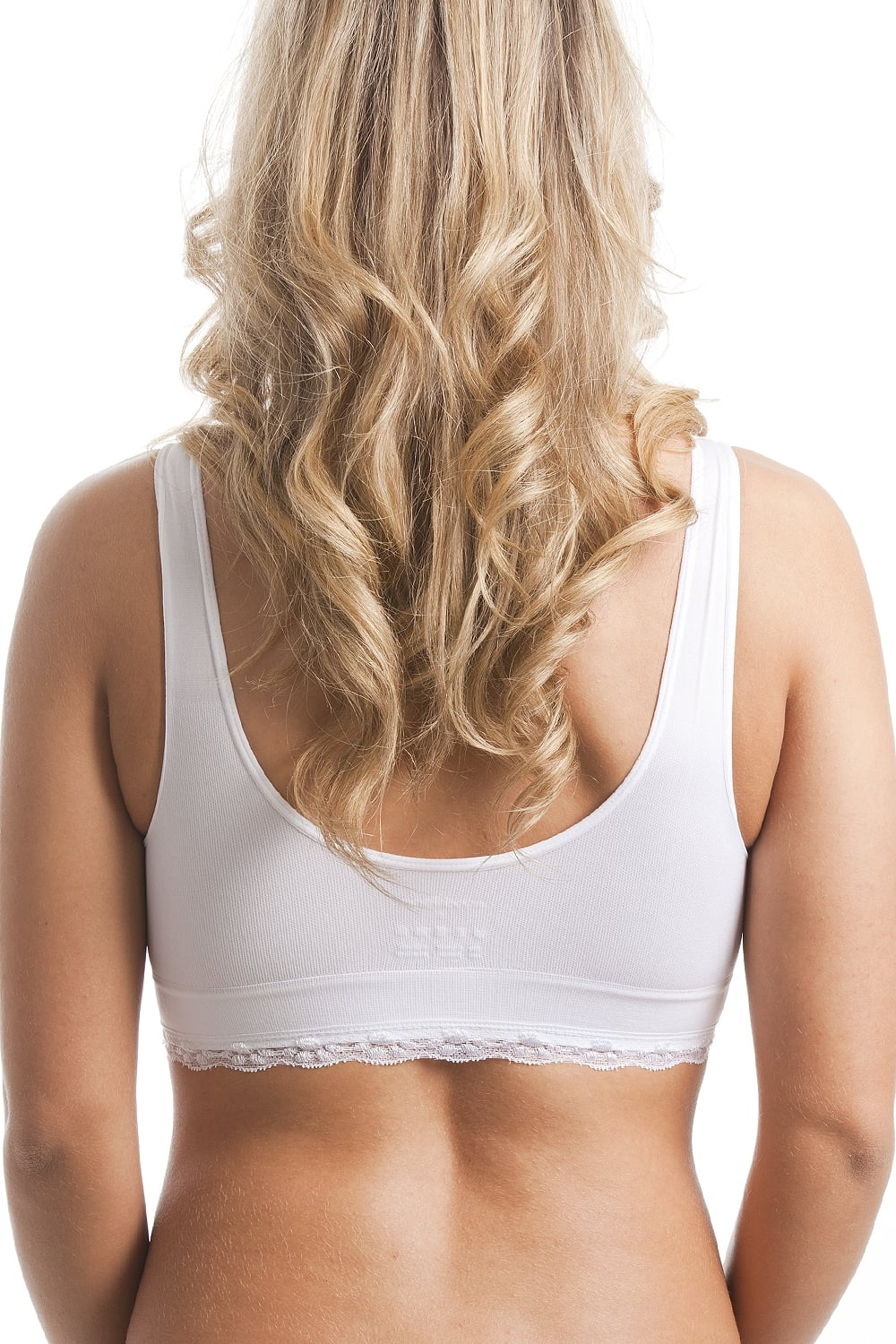 Camille Womens Ladies Lingerie White Non-Wire Lace Trim Padded Comfort Bra